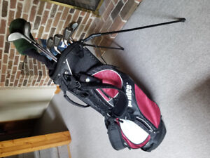 Men's Left Handed Golf Clubs and Stand Bag