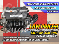2002-2006 ACURA RSX DC5 2.0L I-VTEC ENGINE JDM K20A