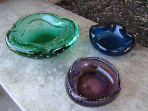 Lot of Three Beautiful Vintage Murano glass pieces
