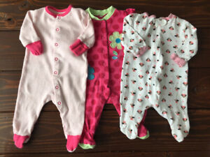 Baby Girl Clothes Lot, 0-3 months