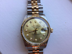 Rolex Datejust two tone, with diamond dial