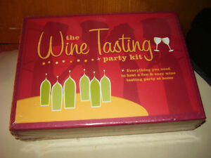 The Wine Tasting Party Kit Game New In Box
