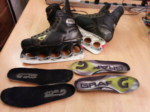 Graf G5 & Bauer ONE95 7.5 + T-Blades, runners, massive bundle