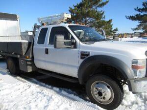 2008 Ford F550 Extended Cab Diesel 4 X 4 Flatdeck Truck