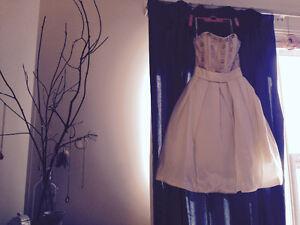 A-line sweetheart neckline short teacup wedding dress