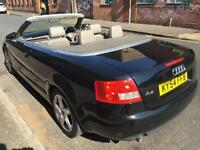 AUDI A4 CONVERTIBLE 2.4 SPORT M-T AUTO..FULL MOT..HISTORY..LEATHER..LOOKS GOOD