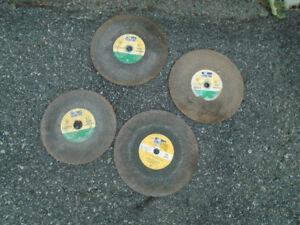 4 lames pour scie à béton C24R CONCRETE pour 20$ 12 x 1/8 x20 mm