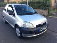 02 REG TOYOTA YARIS 1.0 GS ***LOW MILEAGE*** 12 MONTHS MOT!!