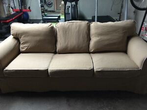 Three Seater Beige Couch