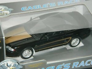 Eagle's Race 1/18 Scale 1994 Ford Mustang Diecast Car Black