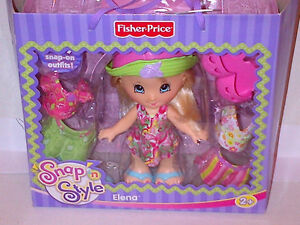 Fisher Price Snap n Style Elena Hippie Fashion RARE UNOPENED