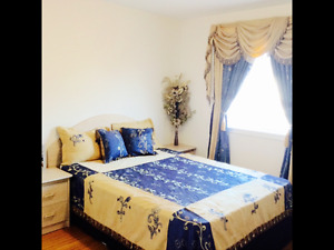 Double Bed with Storage, Two night Stand, Cabinet & Mattress