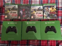 4X Xbox one games + 3x controller - Brand new & sealed