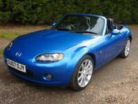 "MAZDA MX-5 2.0i SPORT, 17"" ALLOYS, FULL BLACK LEATHER, 43,000 MILES ONLY"
