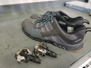 Shimano mt33 bike shoes size 47 shimano pd-m520 SPD pedals