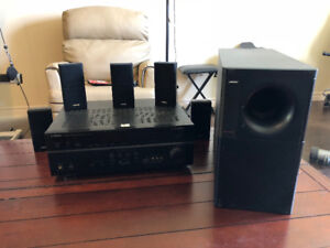 Home Stereo Bose Acoustimass 15 + Yamaha Receiver
