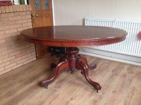 Antique pedestal tilt top table not sure if mahogany or oak