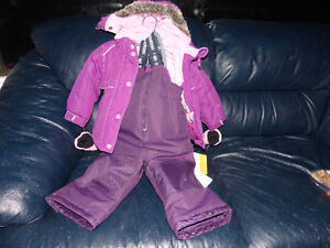 kids winter  jacket with snow pants