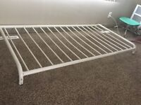 Single metal bedframe. 73.5 by 38 inches