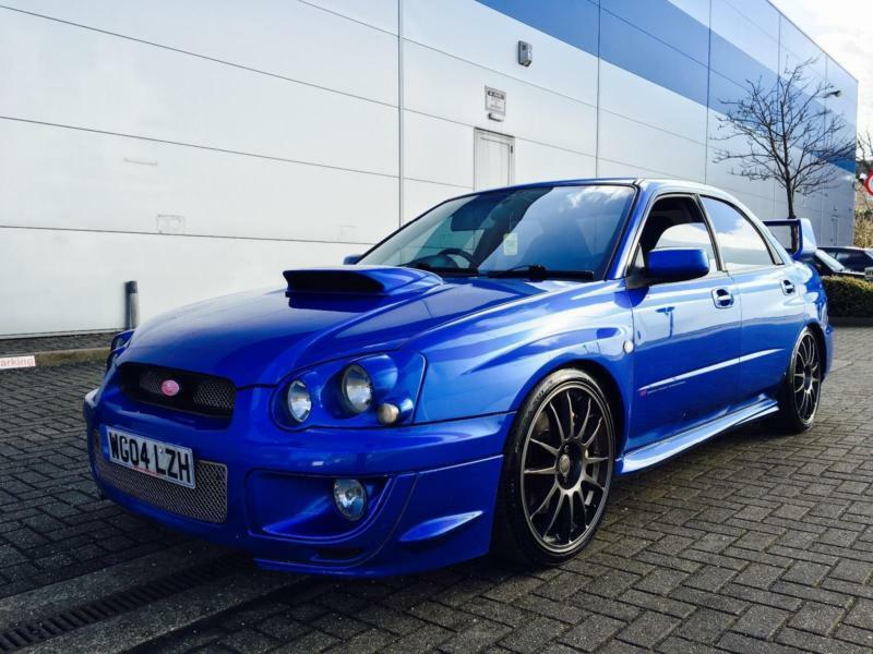 2004 04 Subaru Impreza 2 0 Wrx Sti Type Uk Blue Prodrive