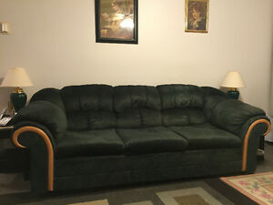Green sofa and love seat for sale