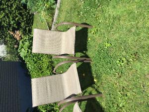 Chaises de patio
