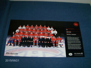 MONTREAL CANADIANS HOCKEY TEAM-GAZETTE/AIR CANADA POSTER/FLYER