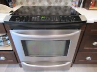 Kenmore ceramic top slide in convection oven