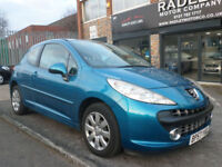 2007 Peugeot 207 1.4 m:play 3DR 08 REG Petrol Blue