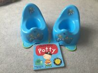 Toy Story Potty x2 and Pirate Pete Potty book
