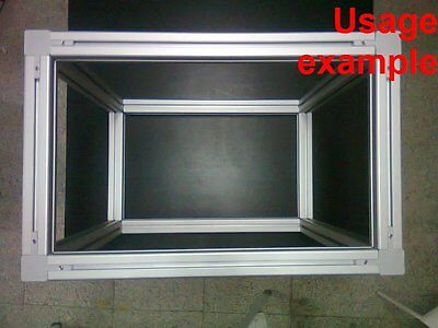 Aluminum T-slot 4040 Extruded Profile 40x40-8mm Box Frame Size 620x580x380mm