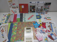 45 Piece Scrapbooking Lot - Kid Themed