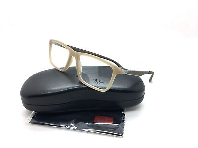Ray Ban Beige Eyeglasses RB 7056 5646 55 mm Fashion Gunmetal Demo Lens