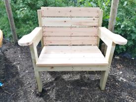 Wooden Garden Throne Spacious Armchair