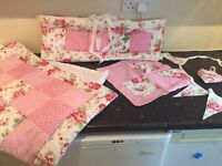 Gorgeous hand made cot set
