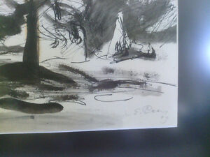 Ernst Paar Signed Original Drawing-Watercolour, Ink North Shore Greater Vancouver Area image 3
