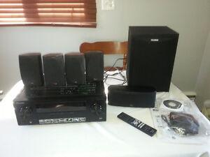 Pioneer vsx523 surround sound system with polk audio 5.1 audio s