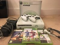 XBOX 360 in A* Condition with 2 Controllers & 3 games