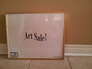 Art Sale framed sign with glass front decorative hanging London Ontario image 1