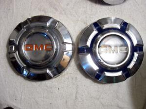 2 - 1967 - 1972 GMC 1/2 ton dog dish poverty hubcaps