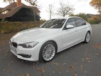 2014 BMW 3 SERIES 318 D LUXURY AUTOMATIC IN PEARL WHITE SALOON DIESEL