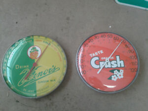 Vernor & Orange Crush Thermometers
