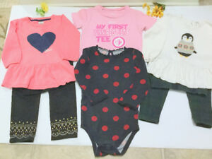 Baby Girl (12-18 m.) Tunic and Legging Set, JETS T-Shirt (6 pc.)