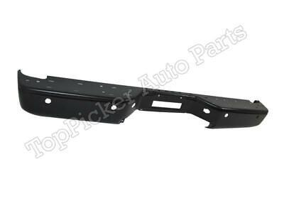 For 2004-2014 Titan Rear Step Bumper Face Bar Black With Sensor Hole NI1102152