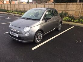Fiat 500 1.2 low miles cheap tax , not corsa vauxhall mazda