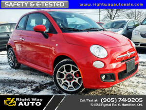 2012 Fiat 500 Sport | NAVI | NEW TIRES | SAFETY & E-TESTED