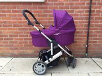 Mamas & papas purple zoom pram/ pushchair