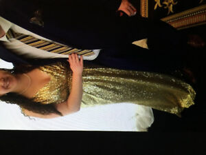 Beautiful Size 22 Gold Sequin Dress by Revelry