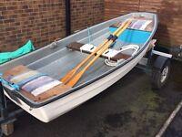 10ft glass fibre pram dingy boat