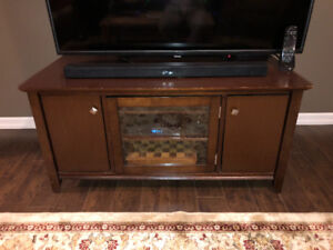 Brown Wooden T.V. Stand